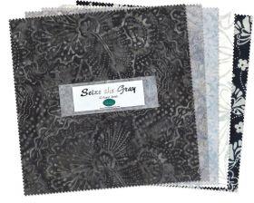 Wilmington Prints Pre-Cuts Seize The Gray 10 Squares 511-65-511