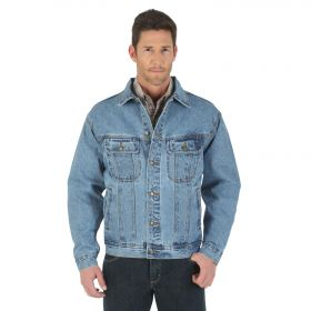 Wrangler Rugged Wear Denim Jacket Tall RJK30VI Vintage Indigo