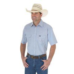 Cowboy Cut Work Short Sleeve Western Snap Solid Chambray Shirt 70131MW-X