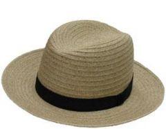 Creased Crown Amish Hat Sand