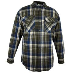 Fivebrother Metal Snap Front Flannel Shirt 5901T PL-8 B  BrownBlue